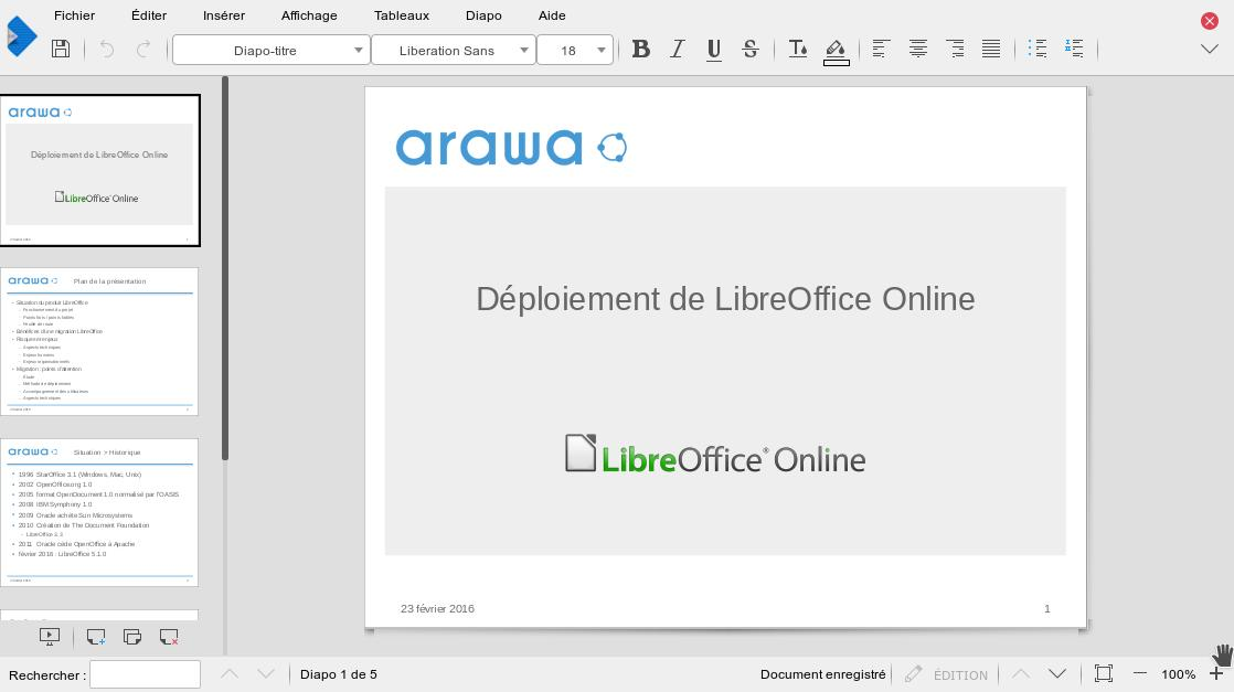 LibreOffice Online pour Nextcloud et ownCloud