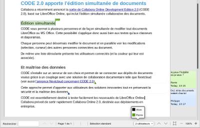 LibreOffice Online apporte la co-édition simultanée de documents
