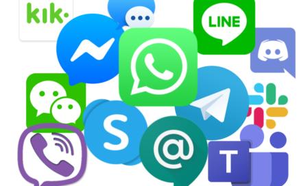 Acteurs de la messagerie instantanée en 2019