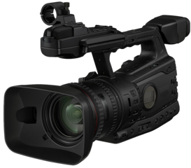 273px News camera with transparent background
