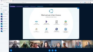 Équipe Arawa en réunion sur la visioconférence opensource BigBlueButton