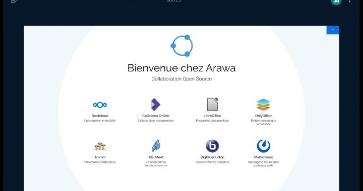 Arawa BigBlueButton 2.3 présentation