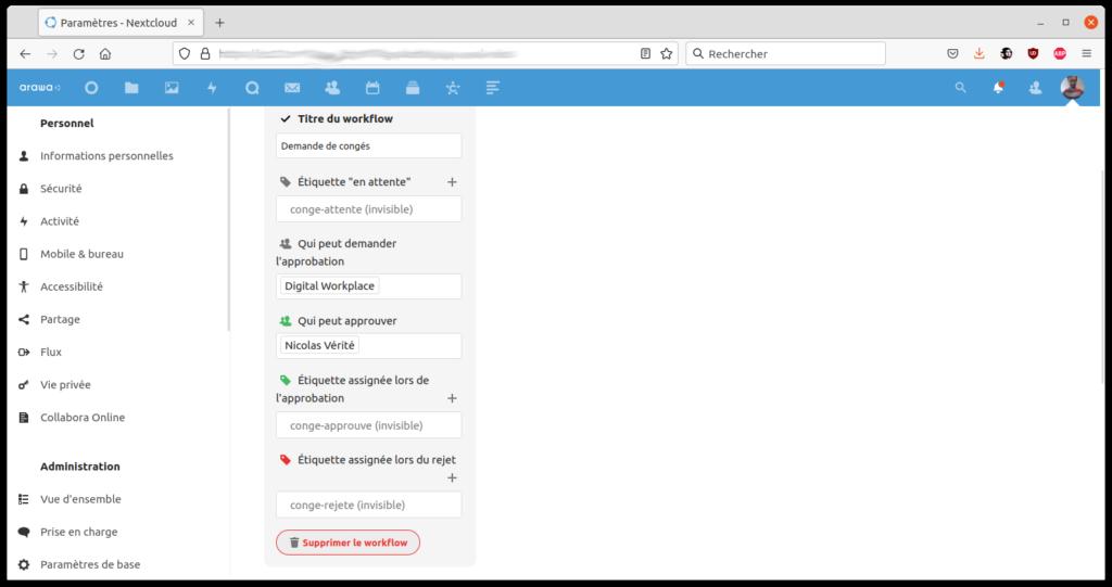 Avec Nextcloud 22, créez votre workflow simplement